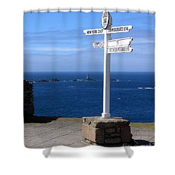 Shower Curtain featuring the photograph Iconic Lands End England by Terri Waters