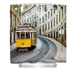Iconic Lisbon Streetcar No. 28 IIi Shower Curtain