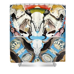 Shower Curtain featuring the painting Icons Of The Panhandle by Joan Hartenstein