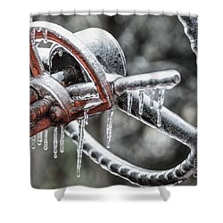 Shower Curtain featuring the photograph Icy Allis- Chalmers Tractor by Debbie Green