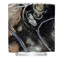 Icy Bubbles Shower Curtain