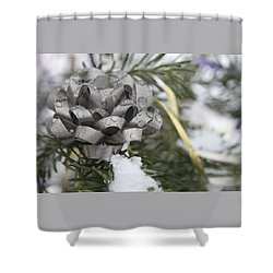 Icy Christmas Tree Shower Curtain