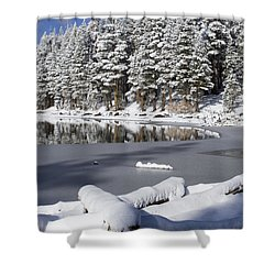Icy Cold Shower Curtain by Chris Brannen