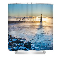 Icy Morning Mist Shower Curtain by Bill Pevlor