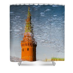 Icy Skies - Featured 3 Shower Curtain by Alexander Senin