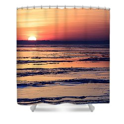 Icy Sunrise Shower Curtain