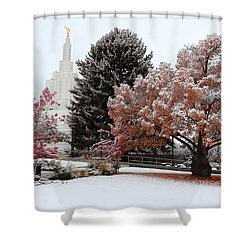 Idaho Falls Temple Winter Shower Curtain