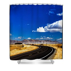 Idaho Road Titl Shift Shower Curtain by For Ninety One Days