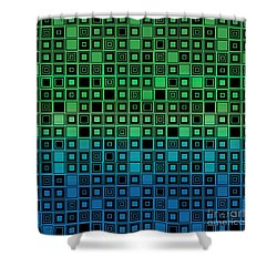 Identical Cells Shower Curtain by Bedros Awak
