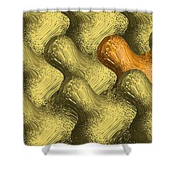 Idiosync Redux 'carmel' Shower Curtain