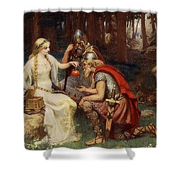Idun And The Apples, Illustration Shower Curtain by James Doyle Penrose