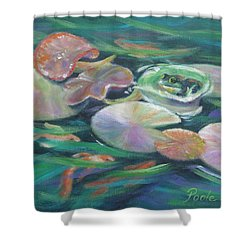 Idyllic Lilypads Shower Curtain