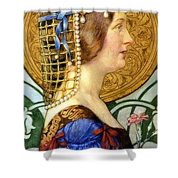 If One Could Have That Little Head Of Hers Shower Curtain by Eleanor Fortescue Brickdale