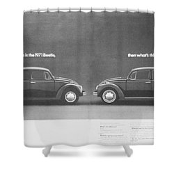 If This Is The 1971 Beetle.............. Shower Curtain by Georgia Fowler