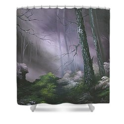 If You Go Down In The Woods Today ? Shower Curtain by Jean Walker