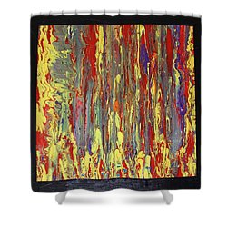 Shower Curtain featuring the painting If...then by Michael Cross