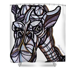 iGiraffe Shower Curtain by Del Gaizo