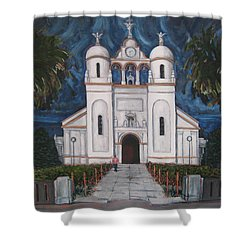 Iglesia Curridabat  Costa Rica Shower Curtain