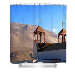Iglesia De San Geronimo Poconchile Chile Shower Curtain by Kurt Van Wagner