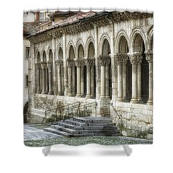 Iglesia De San Millan Shower Curtain by Joan Carroll