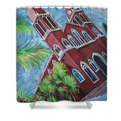 Iglesia Grecia  Costa Rica Shower Curtain