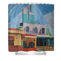 Iglesia San Rafael  Costa Rica Shower Curtain