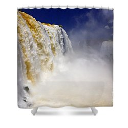 Iguazu Falls I Shower Curtain by Bernardo Galmarini