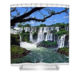 Iguazu Falls In Argentina Shower Curtain