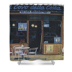 Il Covo Della Costa Shower Curtain by Guido Borelli