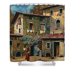 Il Notaio E Il Marinaio Shower Curtain by Guido Borelli