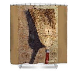 Ila Jean's Broom Shower Curtain
