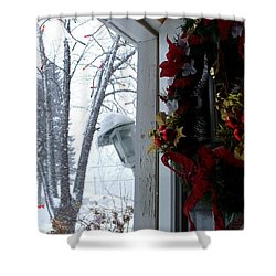 Shower Curtain featuring the photograph I'll Be Home For Christmas by Shana Rowe Jackson