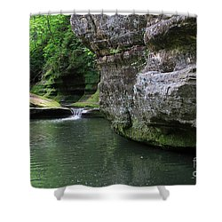 Shower Curtain featuring the photograph Illinois Canyon May 2014 by Paula Guttilla