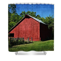 Illinois Red Barn 2 Shower Curtain