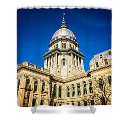 Illinois State Capitol Building In Springfield Shower Curtain by Paul Velgos