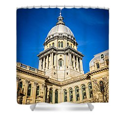 Illinois State Capitol In Springfield Illinois Shower Curtain by Paul Velgos