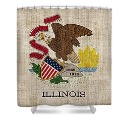 Illinois State Flag Shower Curtain by Pixel Chimp