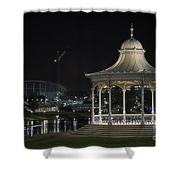 Illuminated Elegance Shower Curtain by Ray Warren