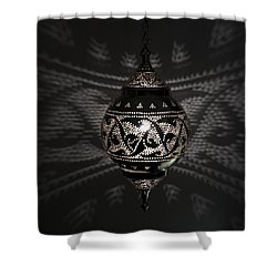 Illuminated Hanging Light Fixture Shower Curtain by Keith Levit