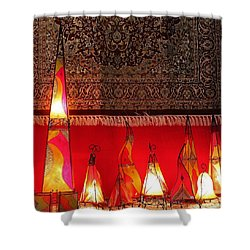 Illuminated Lights Shower Curtain