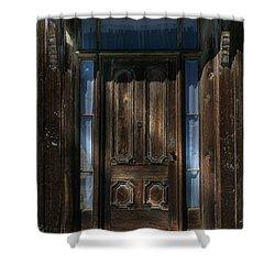 Illuminating The Past - Bodie Shower Curtain by Sandra Bronstein