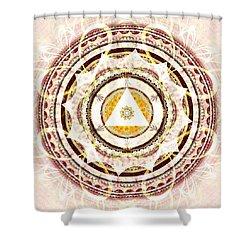 Illumination Circle Shower Curtain by Anastasiya Malakhova