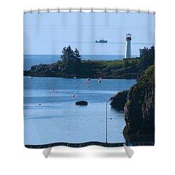 Illusion At Beaver Harbour Light Shower Curtain