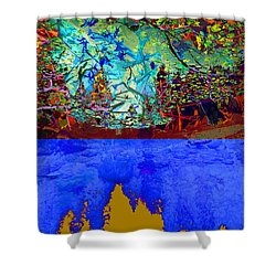 Illusion Of Lake And Forest Shower Curtain