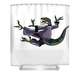 Illustration Of A Raptor Performing Shower Curtain by Stocktrek Images