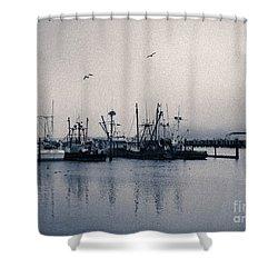 Fishing Boats Columbia River IIi Shower Curtain