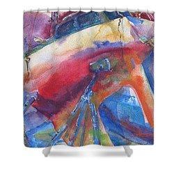 Ilwaco Parti-color Shower Curtain