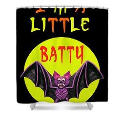 I'm A Little Batty Shower Curtain by Amy Vangsgard