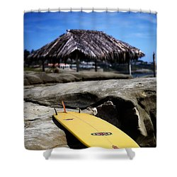 I'm Board Shower Curtain by Peter Tellone