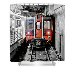 I'm Leaving On A Train Shower Curtain